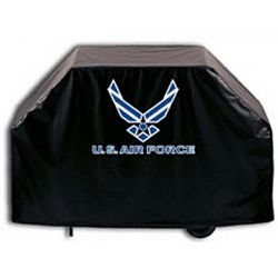 US Air Force Black Grill Cover