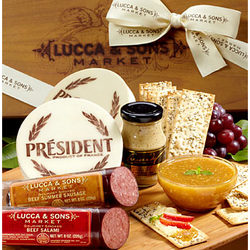 Lucca & Sons Deluxe Meat and Cheese Box