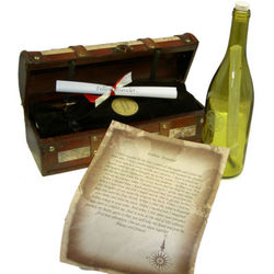 Fellow Traveler Message in a Bottle Gift and Chest
