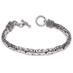 Men's Silver Dragon Sterling Silver Braided Bracelet