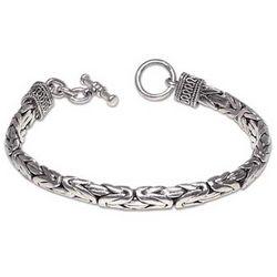 Men's Silver Dragon Sterling Silver Braided Bracelet