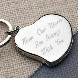 Personalized A Mother's Heart Locket Key Chain