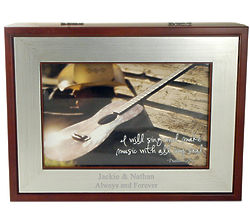 Personalized Music Jewelry Box with Picture Frame
