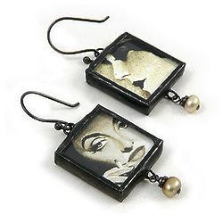 Reversible Silver Screen Diva Earrings