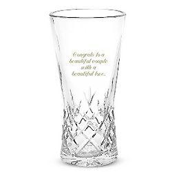 European Pineapple Cut Crystal Vase