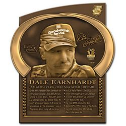 Dale Earnhardt NASCAR Hall of Fame Wall Plaque