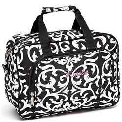 Personalized Damask Duffel Bag