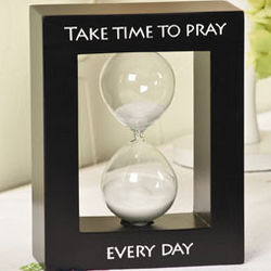 Take Time to Pray Tabletop Hourglass