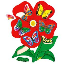 23 Piece Oversized Butterfly Flower Puzzle