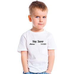 Personalized Script Design Ring Bearer T-Shirt