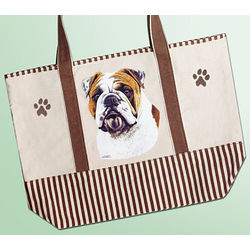 Bulldog Canvas Tote
