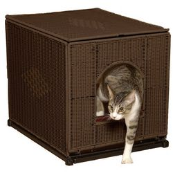 Large Wicker Litter Box Cover