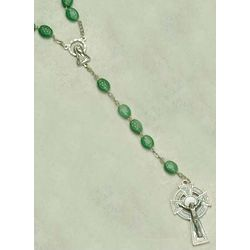 Shamrock Rosary with Celtic Cross
