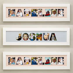 name frame photo collage - Name Frames