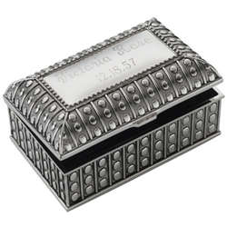 Personalized Beaded Antique Rectangular Box