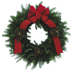 Saint Nick Fresh Wreath
