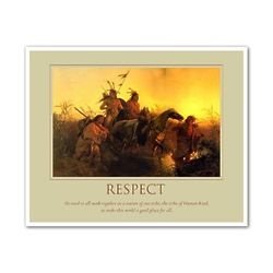 Respect Oil Painting Personalized Art Print