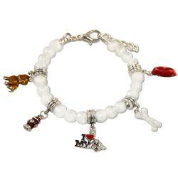 Silver Dog Lover Charm Bracelet