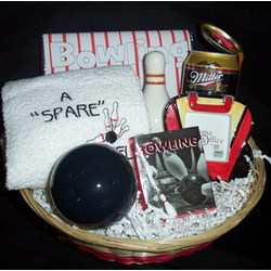 Bowling Lovers Gift Basket