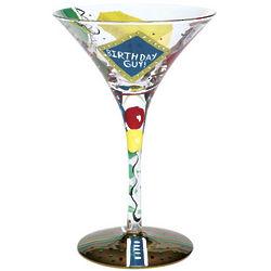 Birthday Guy Martini Glass