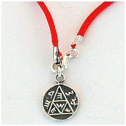Pregnancy Sterling Silver Amulet on Red String