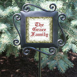 Personalized Merry Christmas Garden Stake