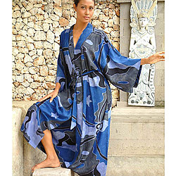 'Through the Seas' Women's Batik Robe