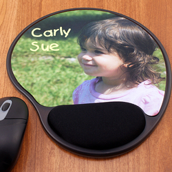 Premium Photo Mouse Pad with Memory Foam Wrist Rest