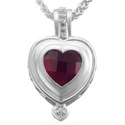 Signature Collection Birthstone Heart Necklace