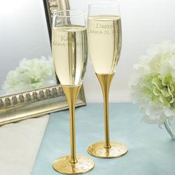 Elegant Gold Parisian Toasting Flute Set