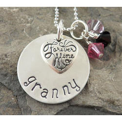 Forever Mine Grandma Personalized Hand Stamped Necklace