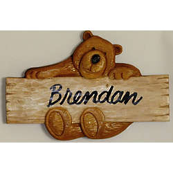 Personalized Bear Plaque