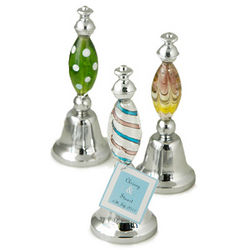 Art Deco Glass Bell Party Favor
