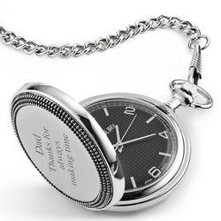 Brushed Silver Snakeskin Pocket Watch