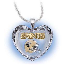 New Orleans Saints Heart Pendant