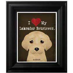 I Heart My Dog Unframed Print