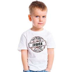 Personalized Grunge Design Ring Bearer T-Shirt