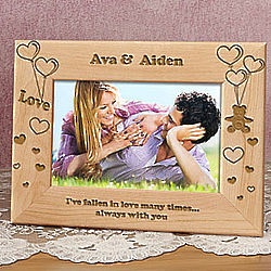 Personalized Loving Bear Wooden Picture Frame