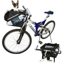 Reinforced Nylon Bicycle Basket for Small Dogs