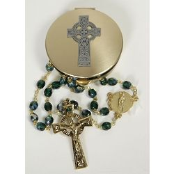 Celtic Rosary and Case Gift Set