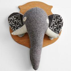 Elephant Head Wall Plaque