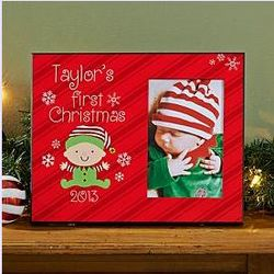 Personalized Baby's First Christmas Frame