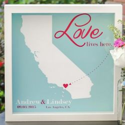 Personalized State Wedding Print Artwork