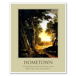 Hometown Oil Painting Personalized Art Print