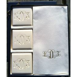 Personalized Spa Soap with 3 Guest Bars and 12 Towels