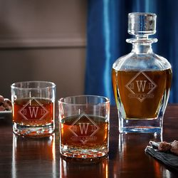 Drake Personalized Draper Whiskey Decanter Gift Set