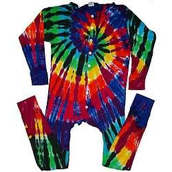 Extreme Rainbow Tie Dye Union Suit