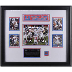 New York Giants Super Bowl XLII Champions Framed Collage