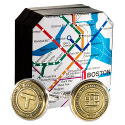 Authentic Boston Transit Token Cufflink
