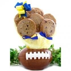 Football Cookie Planter and 6 Gourmet Cookies